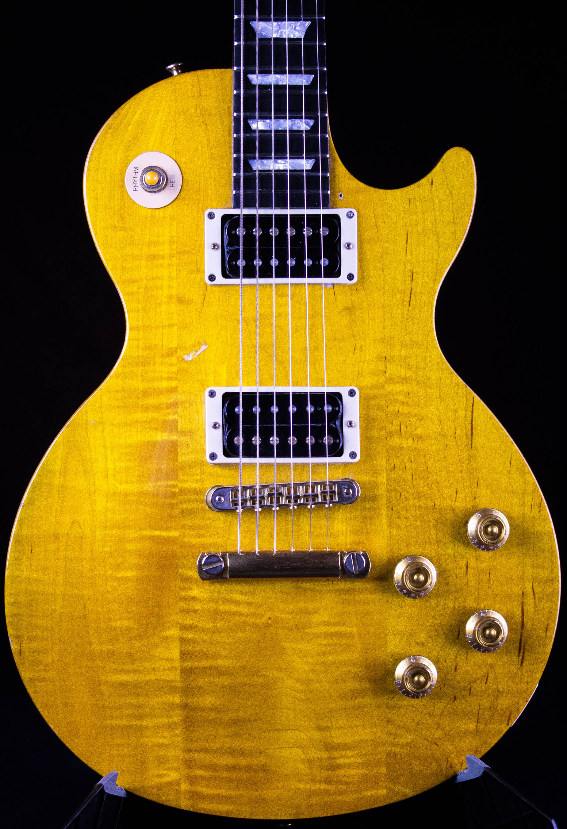 1992 gibson les paul studio lite trans amber guitar grlc1524 ebay. Black Bedroom Furniture Sets. Home Design Ideas