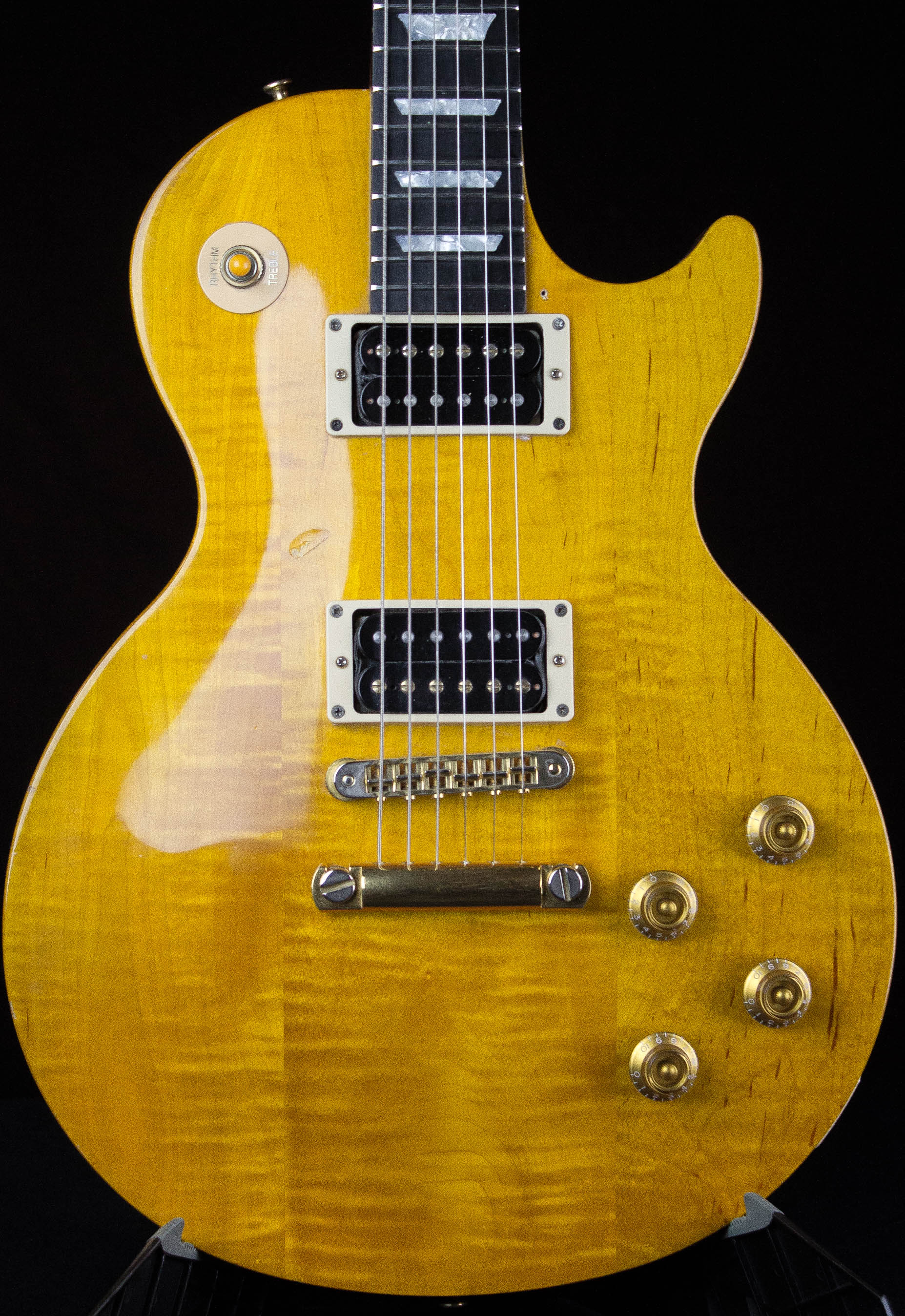 1992 gibson les paul studio lite trans amber guitar grlc1524. Black Bedroom Furniture Sets. Home Design Ideas