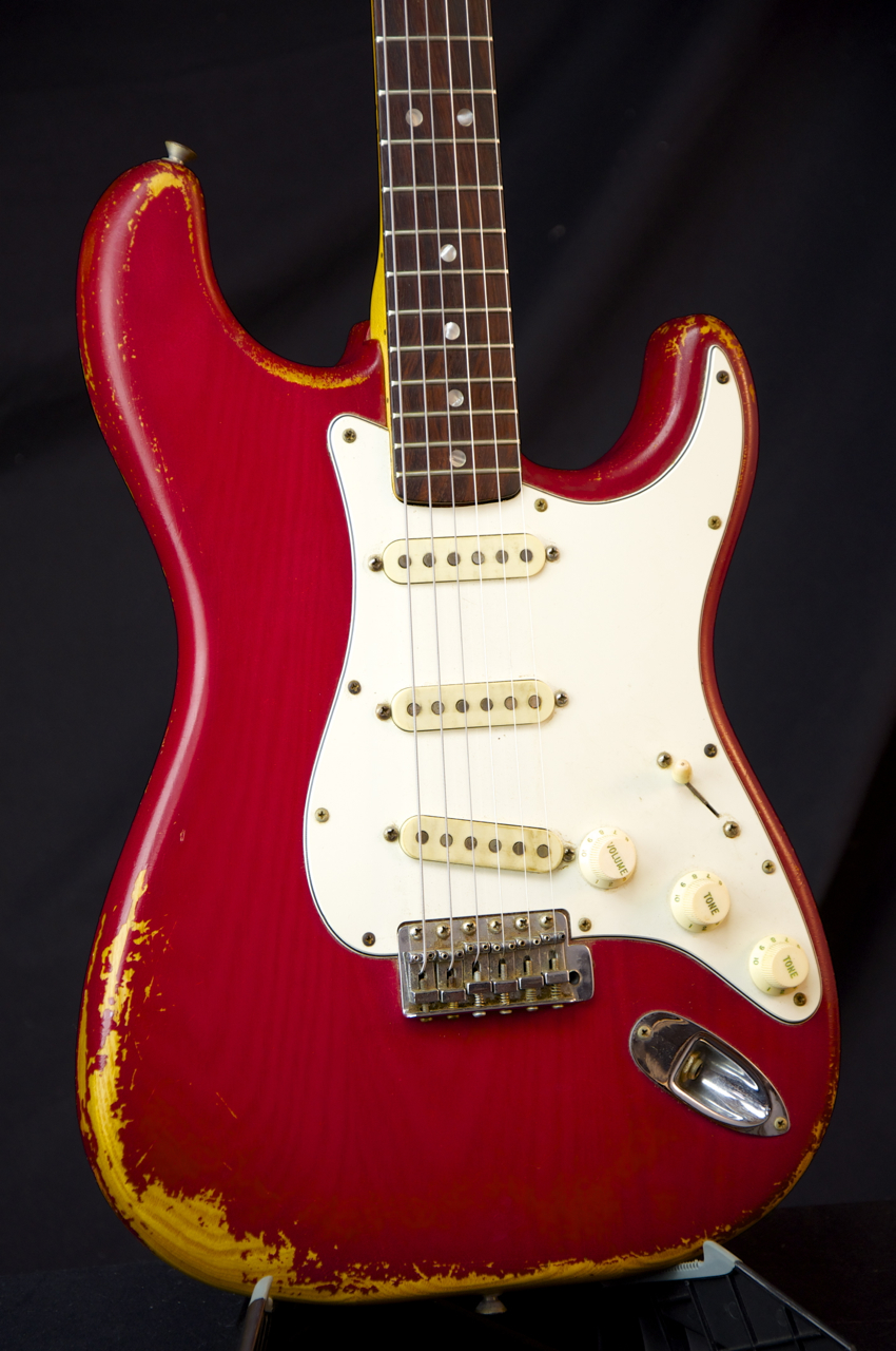 vintage 1979 fender stratocaster guitar moroccan red finish grlc1138 ebay. Black Bedroom Furniture Sets. Home Design Ideas