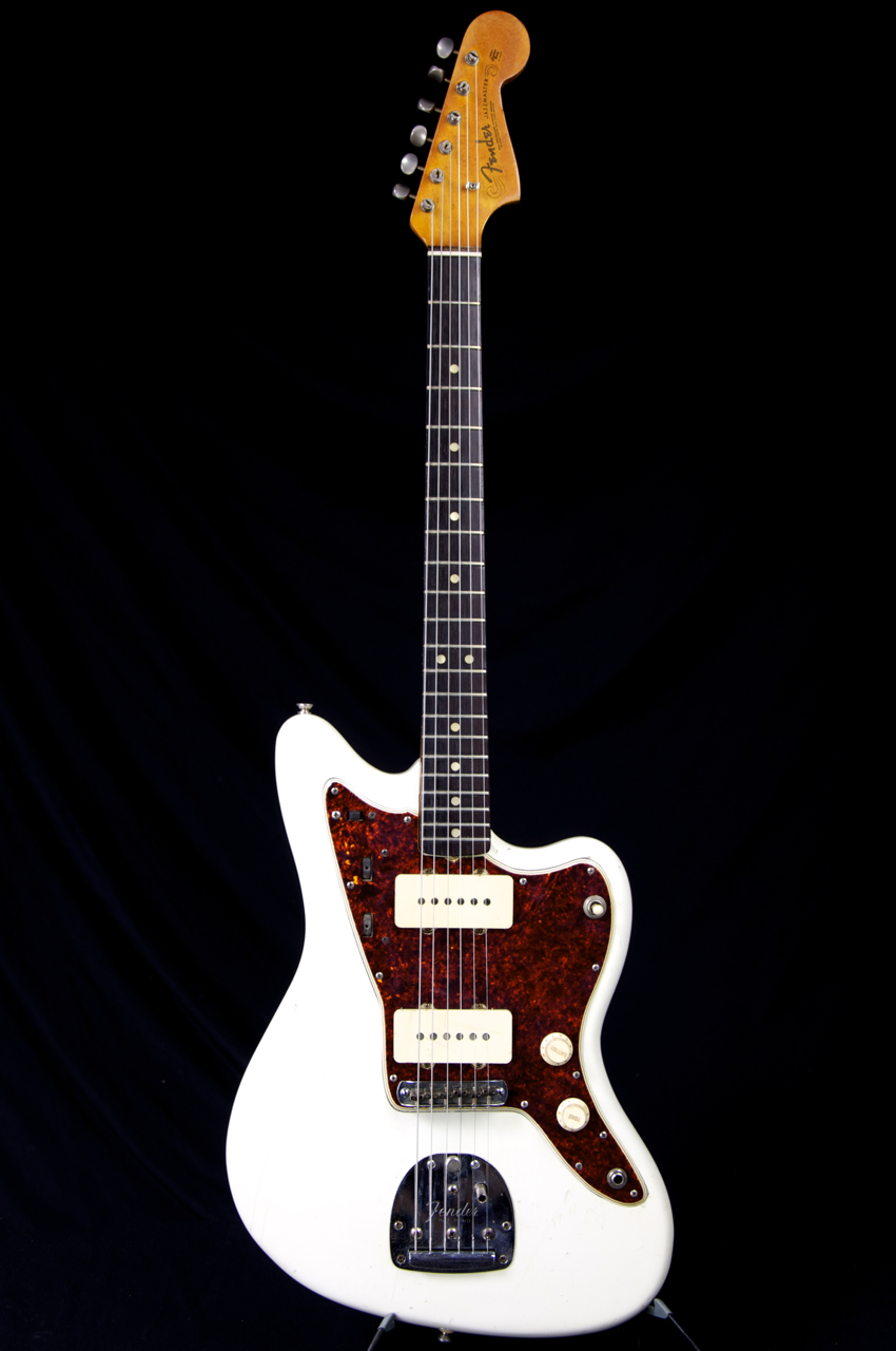 vintage 1965 fender jazzmaster olympic white refin guitar grlc1152 ebay. Black Bedroom Furniture Sets. Home Design Ideas