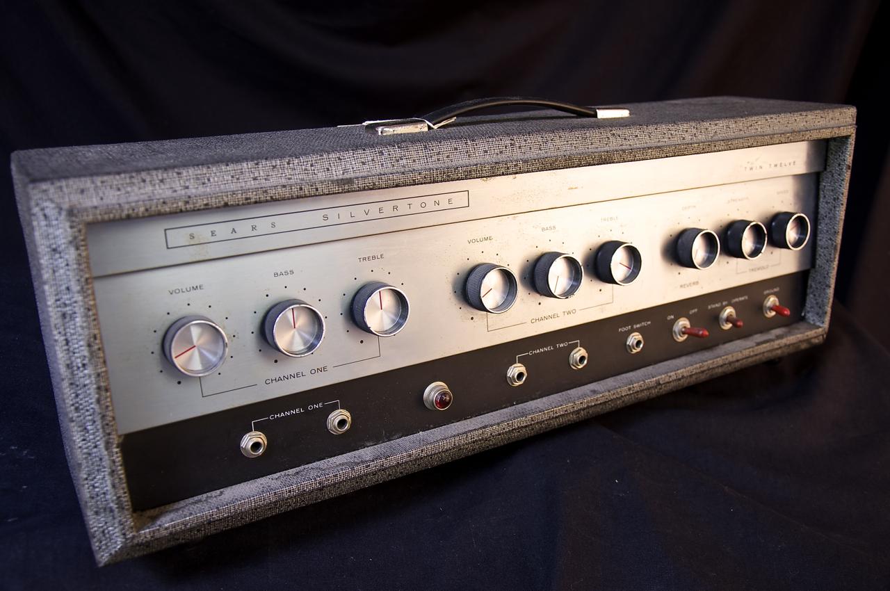 VINTAGE SILVERTONE 1484 TWIN TWELVE TUBE GUITAR AMP ...