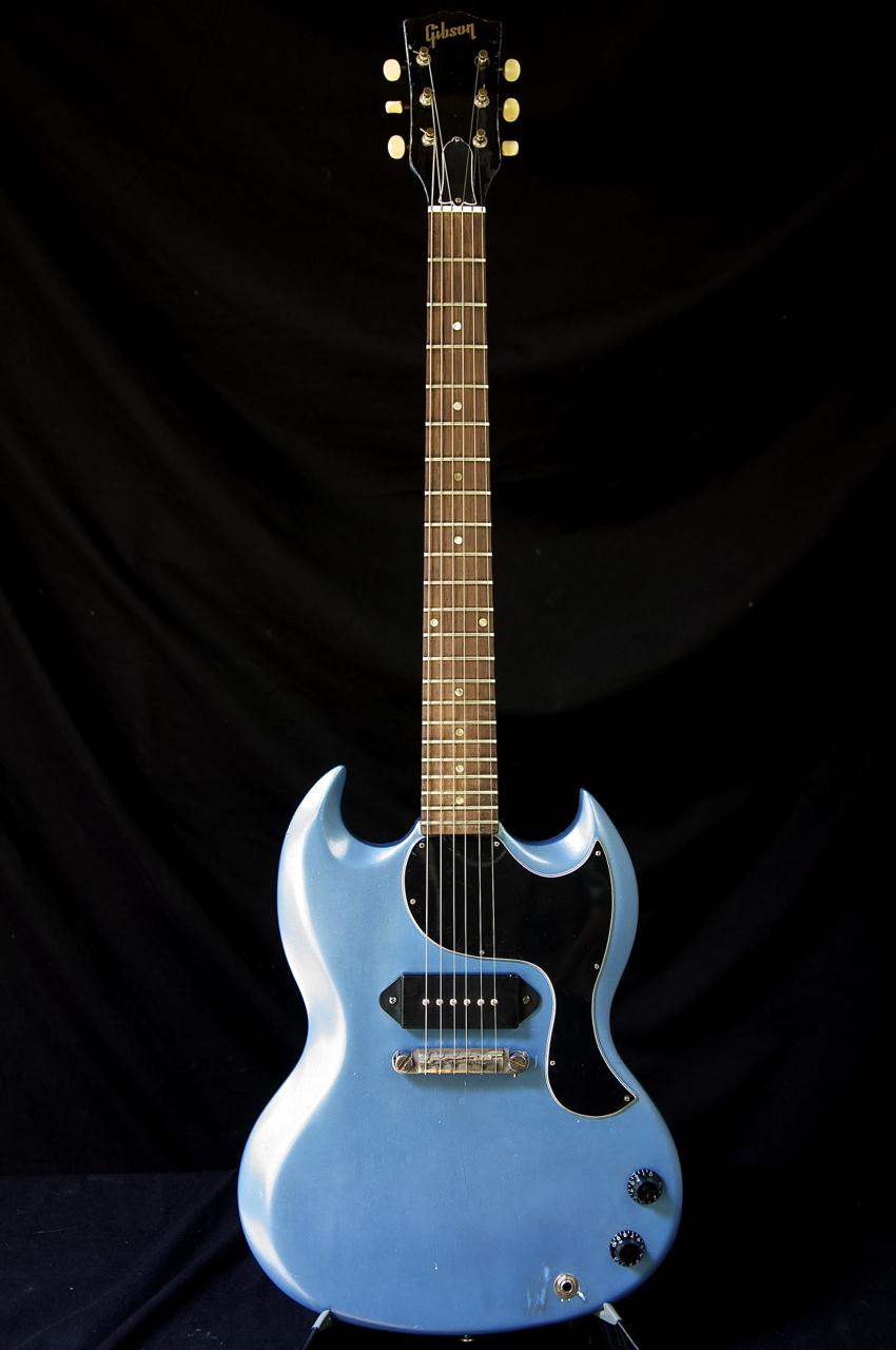 vintage 1964 gibson sg jr guitar pelham blue grlc1192 ebay. Black Bedroom Furniture Sets. Home Design Ideas