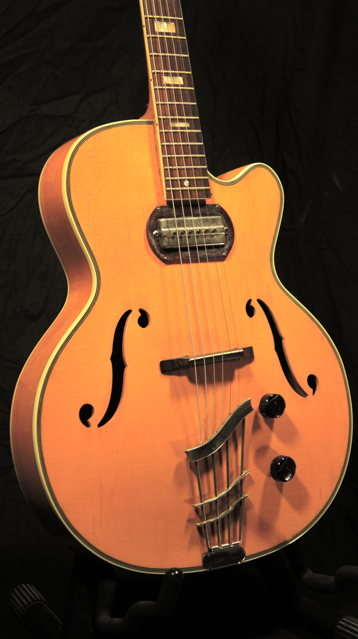 vintage harmony h65 h 65 archtop electric guitar grlc1247 ebay. Black Bedroom Furniture Sets. Home Design Ideas