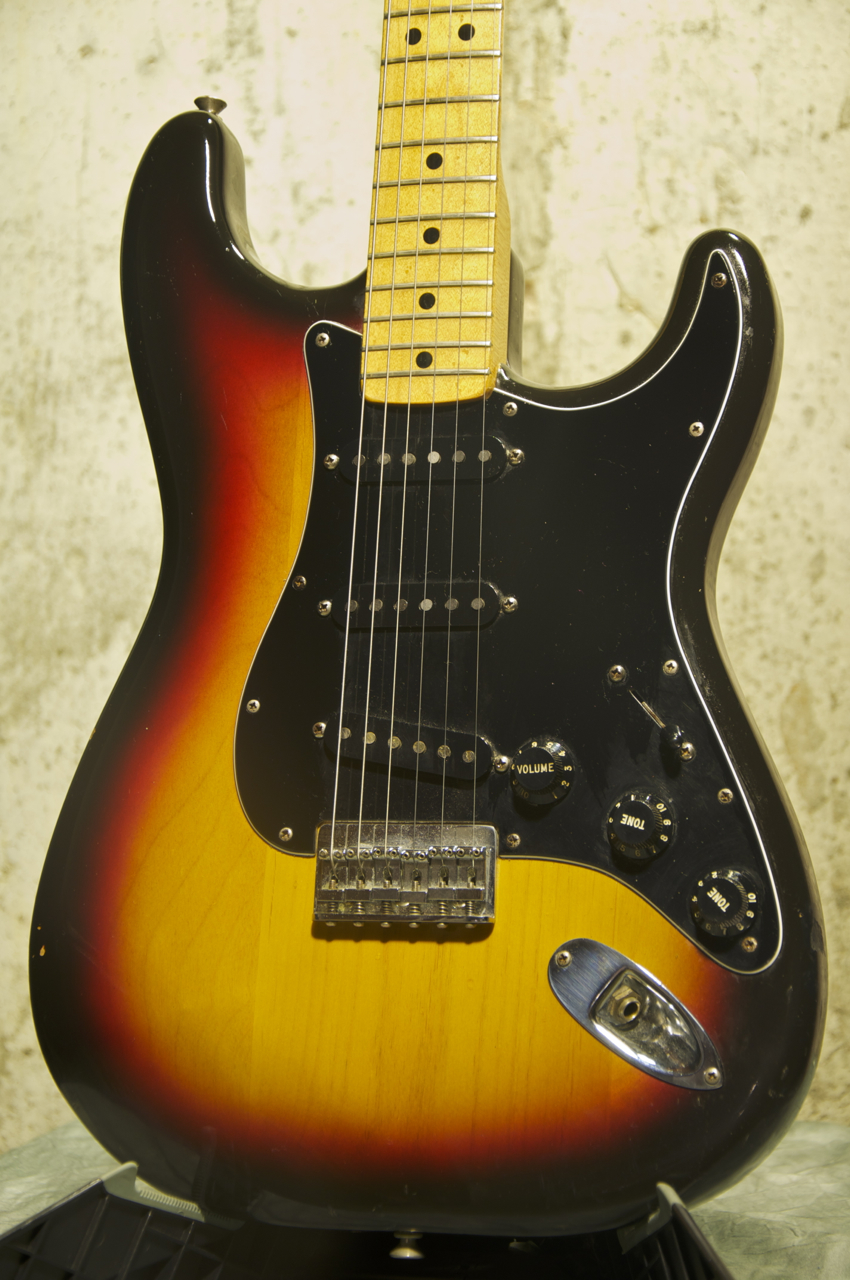 vintage 1979 fender stratocaster sunburst electric guitar grlc1283 ebay. Black Bedroom Furniture Sets. Home Design Ideas