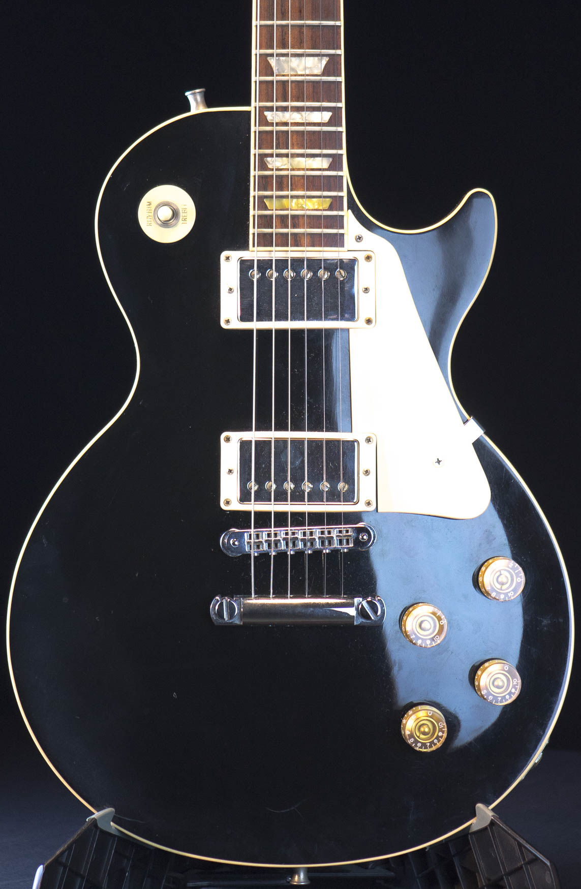 1992 gibson les paul standard ebony finish good wood era guitar grlc1636 ebay. Black Bedroom Furniture Sets. Home Design Ideas