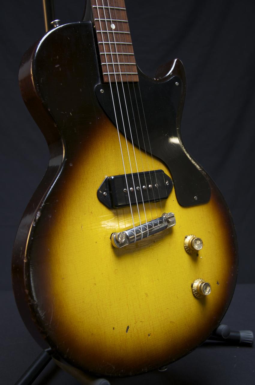 vintage 1957 gibson les paul jr sunburst guitar 3 4 scale original grlc684 ebay. Black Bedroom Furniture Sets. Home Design Ideas