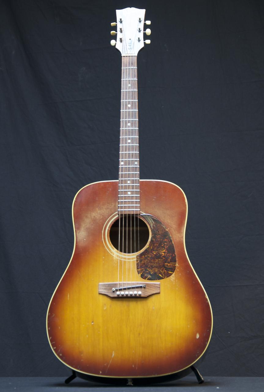vintage 1969 gibson j45 acoustic guitar cherry sunburst square shoulder grlc716 ebay. Black Bedroom Furniture Sets. Home Design Ideas