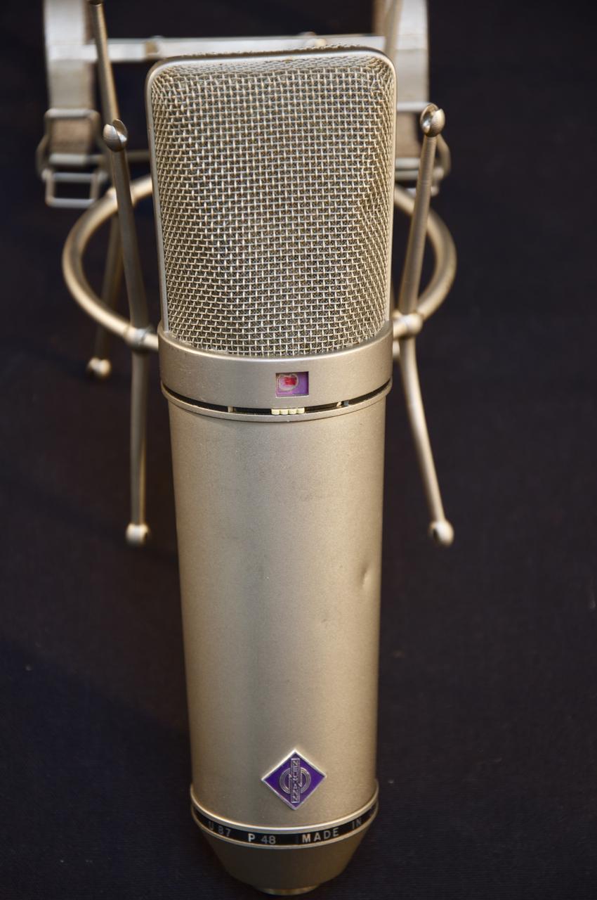 vintage 70 39 s neumann u87 condenser microphone grlc763 ebay. Black Bedroom Furniture Sets. Home Design Ideas